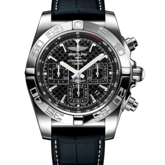 Pre-owned Breitling Chronomat 44 Steel polished Carbon