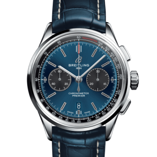 Pre-owned Breitling Premier B01 Chronograph 42 Steel Blue