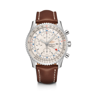 Used Breitling Navitimer 1 Chronograph GMT 46 Steel Silver