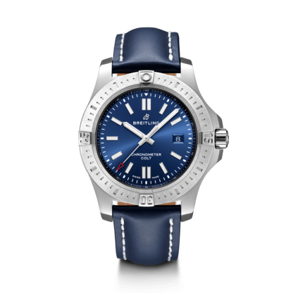 best cheap Breitling Chronomat Colt Automatic 44 Steel Mariner Blue