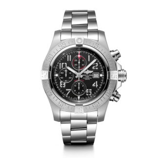 best cheap Breitling Super Avenger II Steel Volcano Black
