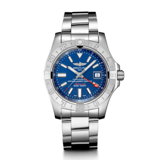best fake Breitling Avenger II GMT Steel Mariner Blue