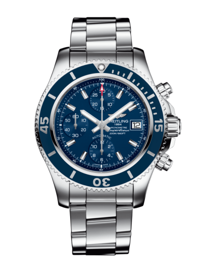 best fake Breitling Superocean Chronograph 42 Steel Mariner Blue