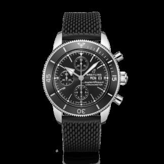 best fake Breitling Superocean Héritage II Chronograph 44 Steel Volcano black/black
