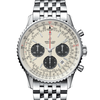 best replica Breitling Navitimer 1 B01 Chronograph 43 Steel Mercury Silver