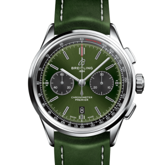 best replica Breitling Premier B01 Chronograph 42 Bentley Steel Green