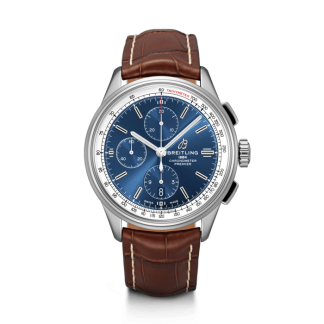 best replica Breitling Premier Chronograph 42 Steel Blue