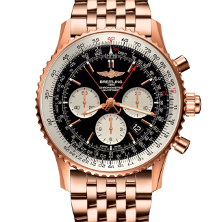 buy replica Breitling Navitimer 1 B03 Chronograph Rattrapante 45 Red gold Limited Black