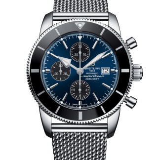 buy replica Breitling Superocean Héritage II Chronograph 46 Steel Gun Blue