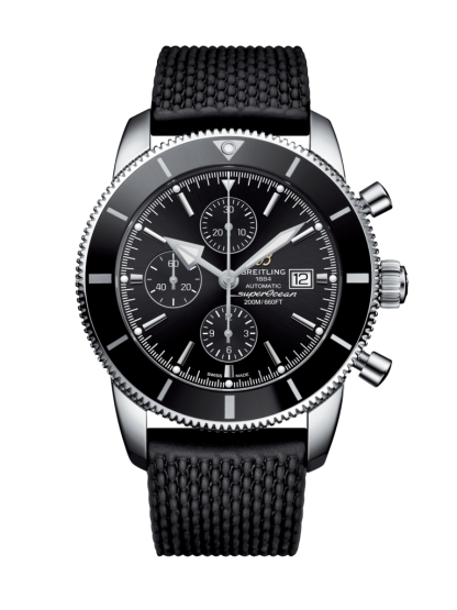cheap replica Breitling Superocean Héritage II Chronograph 46 Steel Volcano Black