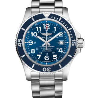 cheap replica Breitling Superocean II 44 Steel satin-finish Gun Blue