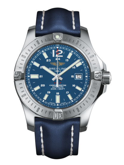 cheapest price Breitling Colt Automatic Steel Mariner Blue