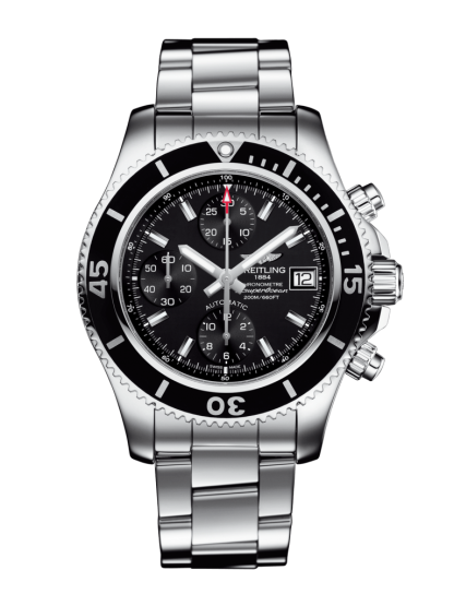 cheapest price Breitling Superocean Chronograph 42 Steel Volcano Black