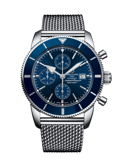 discounted Breitling Superocean Héritage II Chronograph 46 Steel Gun Blue