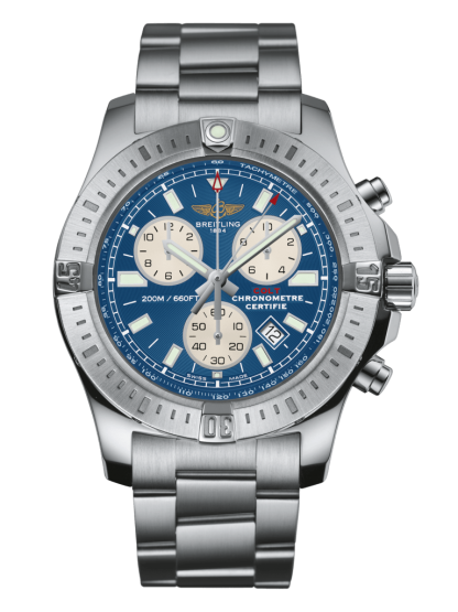 fake watches Breitling Colt Chronograph Steel Mariner Blue