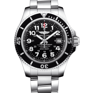 fake watches Breitling Superocean II 42 Steel Volcano Black