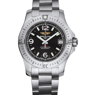 fashion Breitling Colt 36 Steel Volcano Black
