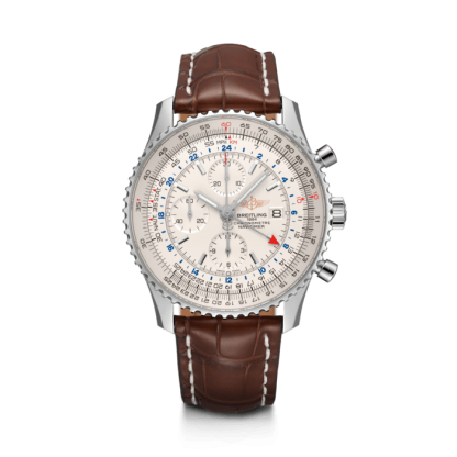 for sale Breitling Navitimer 1 Chronograph GMT 46 Steel Silver