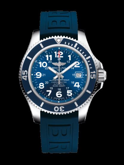 high quality Breitling Superocean II 42 Steel Mariner Blue