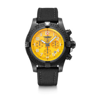 luxury replica Breitling Avenger Hurricane 45 Cobra Yellow