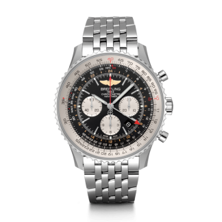 luxury replica Breitling Navitimer 1 B04 Chronograph GMT 48 Steel Black