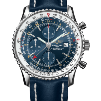 luxury replica Breitling Navitimer 1 Chronograph GMT 46 Steel Blue