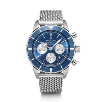 luxury replica Breitling Superocean Héritage II B01 Chronograph 44 Steel Blue