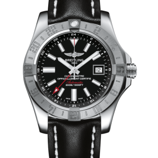 made in china Breitling Avenger II GMT Steel Volcano Black