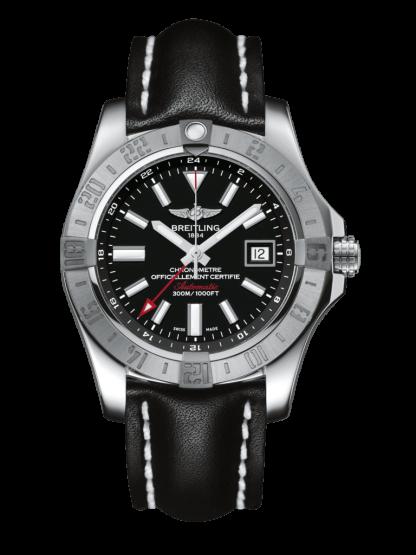 made in china Breitling Avenger II GMT Steel Volcano Black