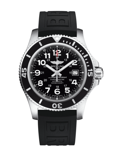 made in china Breitling Superocean II 44 Steel satin-finish Volcano Black