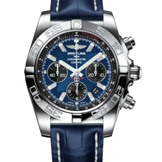 mens watches Breitling Chronomat 44 Steel polished Blackeye Blue