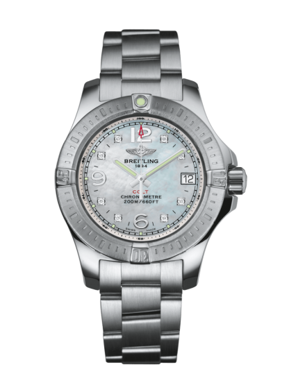 mens watches Breitling Colt Lady Steel Pearl Diamond