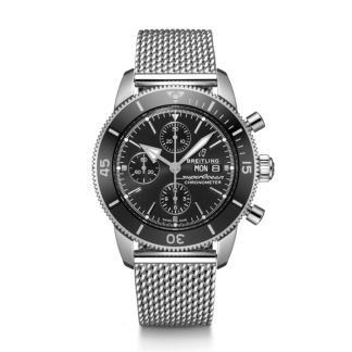 price list Breitling Superocean Héritage II Chronograph 44 Steel Black