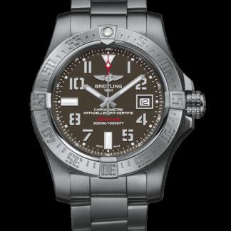 replica watches Breitling Avenger II Seawolf Steel satin-finish Tungsten Gray