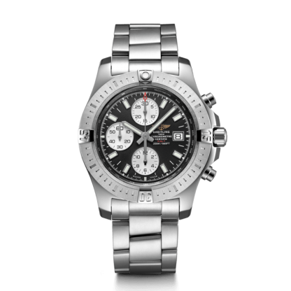 replica watches Breitling Colt Chronograph Automatic Steel Volcano Black