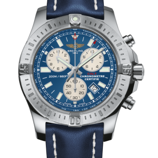 replica watches Breitling Colt Chronograph Steel Mariner Blue