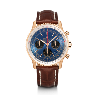 replica watches Breitling Navitimer 1 B01 Chronograph 43 Red gold Blue