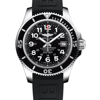 replica watches Breitling Superocean II 42 Steel Volcano Black