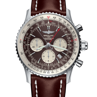swiss grade 7 Breitling Navitimer 1 B03 Chronograph Rattrapante 45 Steel Panamerican Bronze