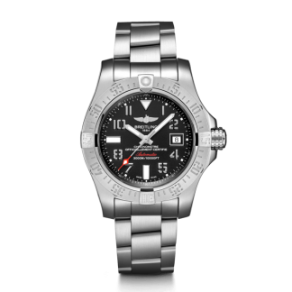 top swiss Breitling Avenger II Seawolf Steel satin-finish Volcano Black