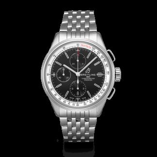 top swiss Breitling Premier Chronograph 42 Steel Black