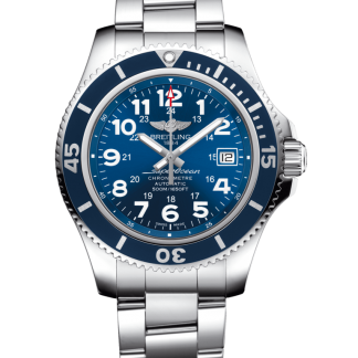 top swiss Breitling Superocean II 42 Steel Mariner Blue