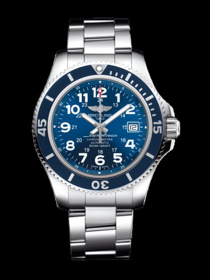 top swiss Breitling Superocean II 42 Steel Mariner Blue