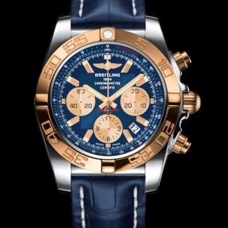 watches replica Breitling Chronomat 44 Steel & gold Metallica Blue