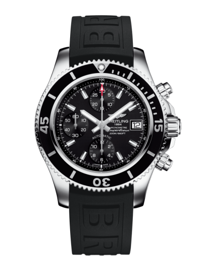 watches replica Breitling Superocean Chronograph 42 Steel Volcano Black