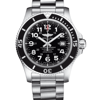 wholesale Breitling Superocean II 44 Steel satin-finish Volcano Black